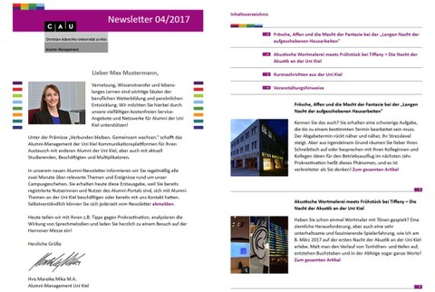 Newsletter-Impression